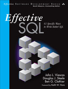 Cover of Effective SQL: 61 Specific Ways to Write Better SQL, First Edition