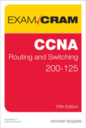 Cover of CCNA Routing and Switching 200-125 Exam Cram, Fifth Edition