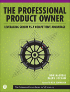 Cover of The Professional Product Owner: Leveraging Scrum as a Competitive Advantage, First Edition