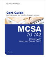 Cover of MCSA 70-742 Cert Guide: Identity with Windows Server 2016