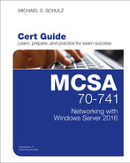Cover of MCSA 70-741 Cert Guide: Networking with Windows Server 2016, First Edition