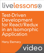 Cover of Test-Driven Development for React/Redux in an Isomorphic Application