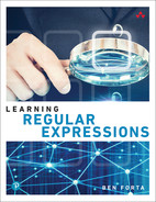 Cover of Learning Regular Expressions, First Edition