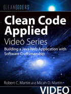 Cover of Clean Code Applied (Clean Coders Video Series): Building a Java Web Application with Software Craftsmanship