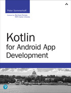 Cover of Kotlin for Android App Development, First Edition
