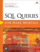 Cover of SQL Queries for Mere Mortals: A Hands-On Guide to Data Manipulation in SQL, Fourth edition