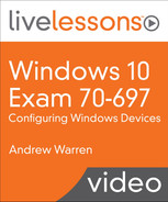 Cover of Windows 10 Exam 70-697: Configuring Windows Devices LiveLessons