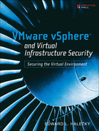 Cover of VMware vSphere™ and Virtual Infrastructure Security: Securing the Virtual Environment