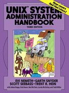 Cover of UNIX System Administration Handbook, Third Edition