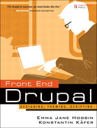 Cover of Front End Drupal: Designing, Theming, Scripting