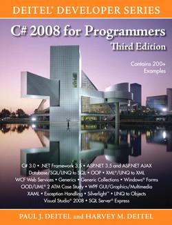 C# 2008 For Programmers Third Edition Deitel® Developer Series