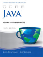 Book cover for Core Java™: Volume I—Fundamentals, Ninth Edition