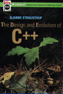 Cover of The Design and Evolution of C++, First Edition