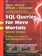 Cover of SQL Queries for Mere Mortals: A Hands-On Guide to Data Manipulation in SQL, Second Edition