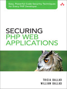 Cover of Securing PHP Web Applications