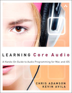 Cover of Learning Core Audio: A Hands-On Guide to Audio Programming for Mac and iOS