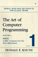 Book cover for The Art of Computer Programming: MMIX - A RISC Computer for the New Millennium, Volume 1, Fascicle 1