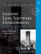 Cover of Leading Lean Software Development: Results Are Not the Point