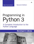 Cover of Programming in Python 3: A Complete Introduction to the Python Language, Second Edition