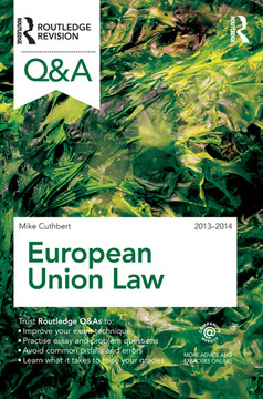 Q European Union Law 2013-2014, 9th Edition