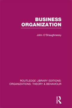 Business Organization (RLE: Organizations)