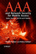 Cover of AAA and Network Security for Mobile Access: Radius, Diameter, EAP, PKI and IP Mobility