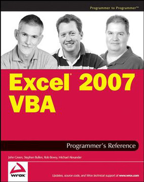 Excel® 2007 VBA Programmer's Reference