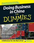 Cover of Doing Business in China For Dummies®