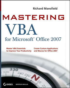Mastering VBA for Microsoft Office 2007, 2nd Edition