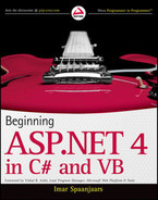 Book cover for Beginning ASP.NET 4: in C# and VB