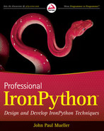 Cover of Professional IronPython™