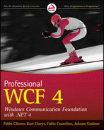 Cover of Professional WCF 4: Windows Communication Foundation with .NET 4