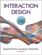 Book cover for INTERACTION DESIGN: beyond human-computer interaction, 3rd Edition