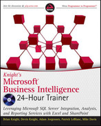 Cover of Knight's Microsoft® Business Intelligence 24-Hour Trainer: Leveraging Microsoft SQL Server® Integration, Analysis, and Reporting Services with Excel® and SharePoint®