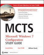 Cover of MCTS Microsoft® Windows® 7 Configuration Study Guide, 2nd Edition