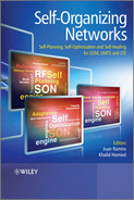 Cover of Self-Organizing Networks: Self-Planning, Self-Optimization and Self-Healing for GSM, UMTS and LTE