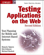Cover of Testing Applications on the Web: Test Planning for Mobile and Internet-Based Systems, Second Edition