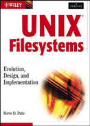 Cover of UNIX Filesystems: Evolution, Design, and Implementation