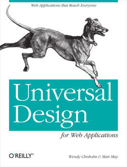 Universal Design for Web Applications