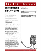 Cover image for Implementing BEA Portal 92