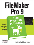 Cover image for FileMaker Pro 9: The Missing Manual