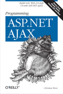 Cover of Programming ASP.NET AJAX