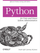 Cover image for Python for Unix and Linux System Administration