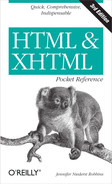 Cover image for HTML and XHTML Pocket Reference, 3rd Edition