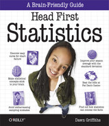 Book cover for Head First Statistics