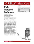 Cover image for SQL Injection Defenses