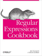 Cover image for Regular Expressions Cookbook