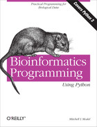 Cover image for Bioinformatics Programming Using Python