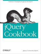 Cover of jQuery Cookbook