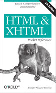 Cover image for HTML & XHTML Pocket Reference, Fourth Edition